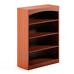 Mayline Brighton Series Four-Shelf Laminated-Wood Bookcase