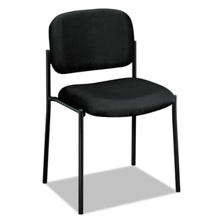 HON Scatter Guest Chair - Leather Stacking Chair Office Furniture, Black