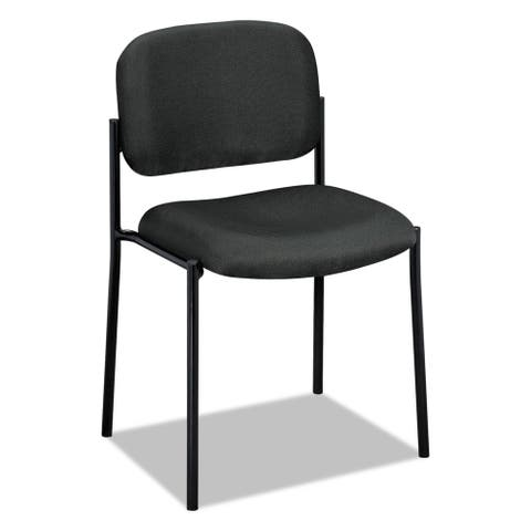 basyx by HON VL606 Series Charcoal Fabric Stacking Armless Guest Chair