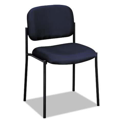 HON VL606 Series Navy Fabric Stacking Armless Guest Chair