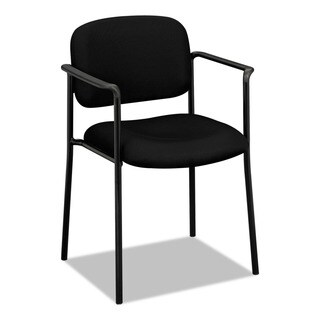 HON Scatter Guest Chair - Upholstered Stacking Chair with Arms, Office Furniture, Black (BSXVL616VA10)