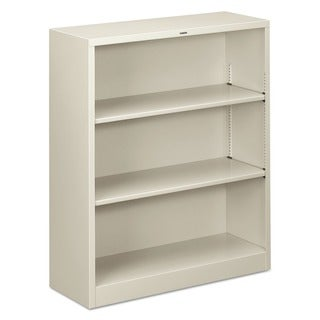 HON Light Grey 3-shelf Metal Bookcase