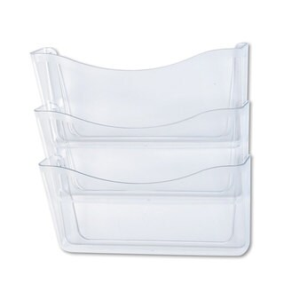 Rubbermaid Clear Unbreakable Three Pocket Wall File Set
