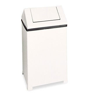 Rubbermaid Commercial White Fire-safe Swing Top Receptacle