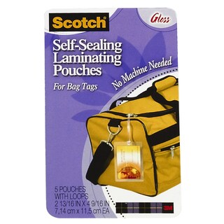 3M Self Sealing Laminating Bag Tags (Pack of 5)