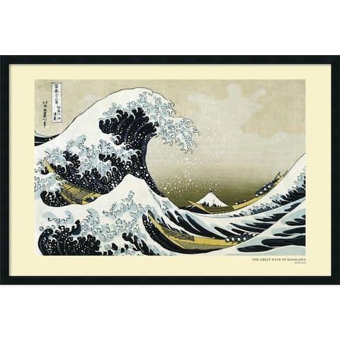 Framed Art Print The Great Wave off the Coast of Kanagawa, 1831 by Katsushika Hokusai 38 x 26-inch