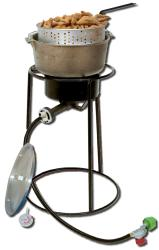 King Kooker Aluminum 20-inch Propane Portable Outdoor Cooker and Cast Iron Pot - Thumbnail 1