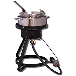 King Kooker 16-inch Outdoor Cooker with a Steel Fry Pan