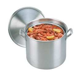 King Kooker 32-qt Aluminum Boiling Pot with Steam Basket and Lid