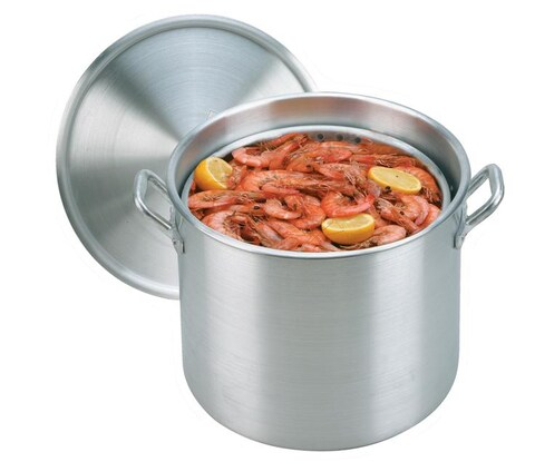 King Kooker 160-qt Aluminum Boiling Pot with Steam Basket and Lid