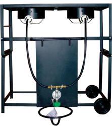 King Kooker 28-inch Dual Cast Burner Cart