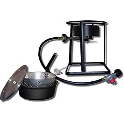 King Kooker 16-inch Outdoor Cooker with Cast Iron Pot