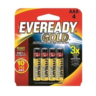 Eveready AAA Alkaline Battery Retail 4-pack
