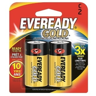 C Cell Alkaline Battery Retail Pack - 2-Pack