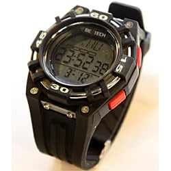 Beatech Black/ Red Alarm Clock/ Stopwatch/ Countdown Timer Watch Heart Rate Monitor