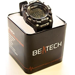 Beatech Black Alarm Clock/ Stopwatch/ Countdown Timer Watch Heart Rate Monitor - Thumbnail 1