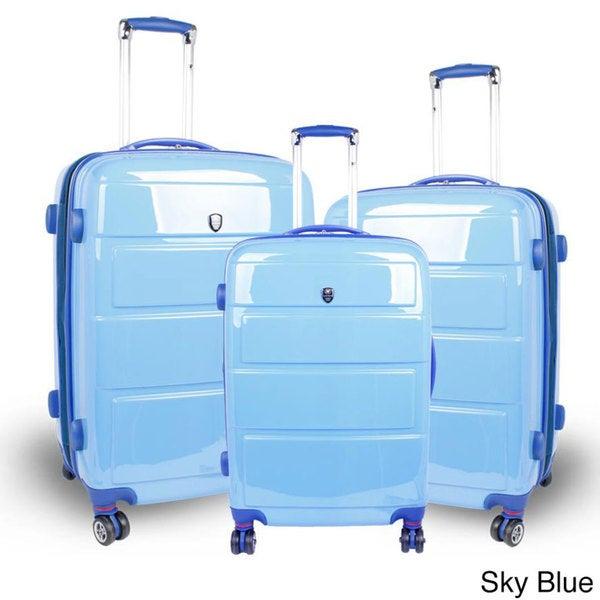J World 'Vanesta' Polycarbonate Spinner Luggage 3-piece Set