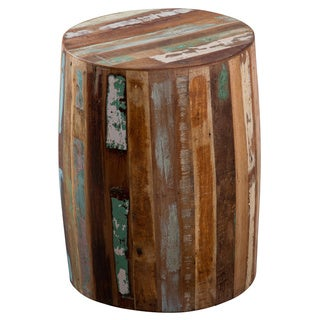 CG Sparks Handmade Weathered Reclaimed Wood Tanki Table (India)