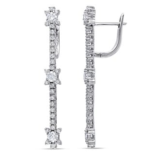 Miadora 18k White Gold 1 4/5ct TDW Diamond Drop Earrings (G-H, SI1-SI2)