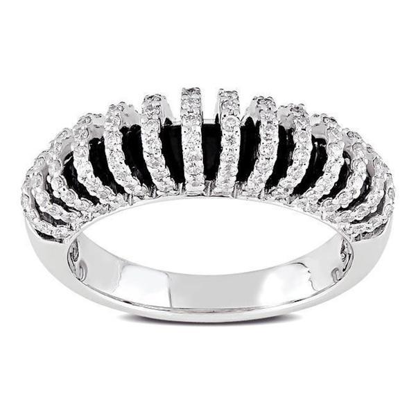 Miadora 18k White Gold 5/8ct TDW Diamond Ring