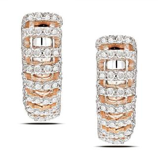 Miadora Signature Collection 18k Rise Gold 5/8ct TDW Diamond Earrings (G-H, SI1-SI2)