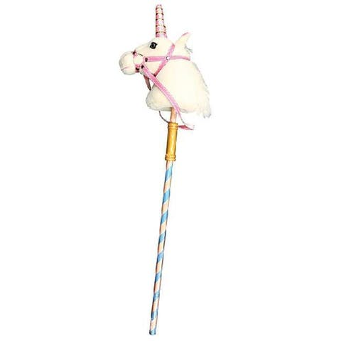 Melissa & Doug Prance-n-Play Stick Plush Unicorn