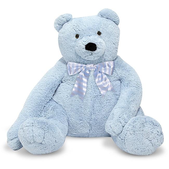 Melissa & Doug Jumbo Blue Teddy Bear