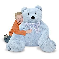 Melissa & Doug Jumbo Blue Teddy Bear - Thumbnail 1