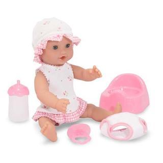 Melissa & Doug Annie 12-inch Drink & Wet Doll - Pink