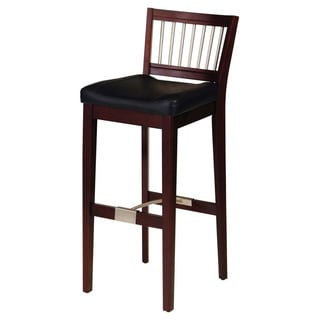 Bar Stool with Metal Stretcher- Cherry by Home Styles