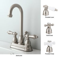 Satin Nickel High Arc Bathroom Faucet