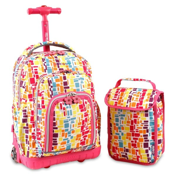 2f3537fb8a Shop J World  Lollipop  16-inch Kids Rolling Backpack Lunch Bag ...