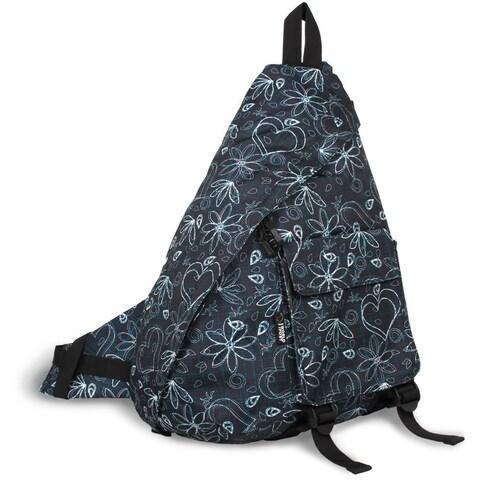 J World 'Kitten' Black Love Letter 19-inch Sling Backpack