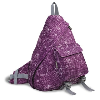 J World Purple Love Letter 'Kitten' 19-inch Sling Backpack