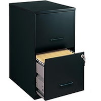 Office Designs Black Colored 2 Drawer Steel File Cabinet