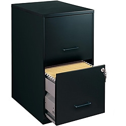 Superbe Office Designs Black Colored 2 Drawer Steel File Cabinet