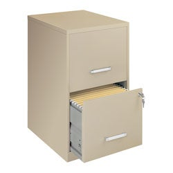 Office Designs Putty-Colored 2-drawer Steel File Cabinet