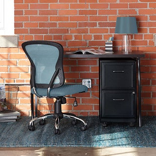 Office Designs Black Steel 2drawer File Cabinet with Shelf Free