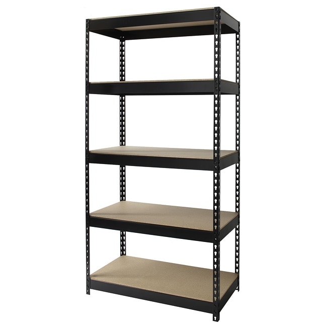 Iron Horse Riveted Steel 5-shelf Shelving Unit
