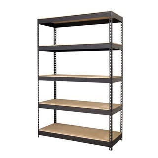 Iron Horse Black 5-shelf Riveted Steel Shelving|https://ak1.ostkcdn.com/images/products/5853284/P13565571.jpg?impolicy=medium