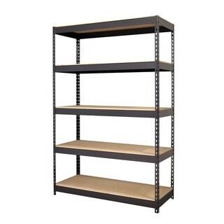 Iron Horse Black Riveted Steel 5-shelf Shelving