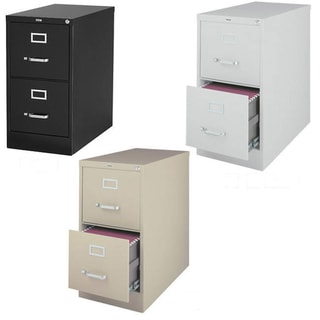 Hirsh 25-inch Deep 2-drawer Letter-size Commercial Vertical File Cabinet