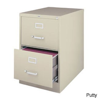 Hirsh 25-inch Deep 2-drawer Legal-size Commercial Vertical File Cabinet