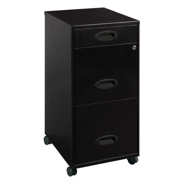 office designs file cabinet. Office Designs Black 3-drawer Mobile File Cabinet -