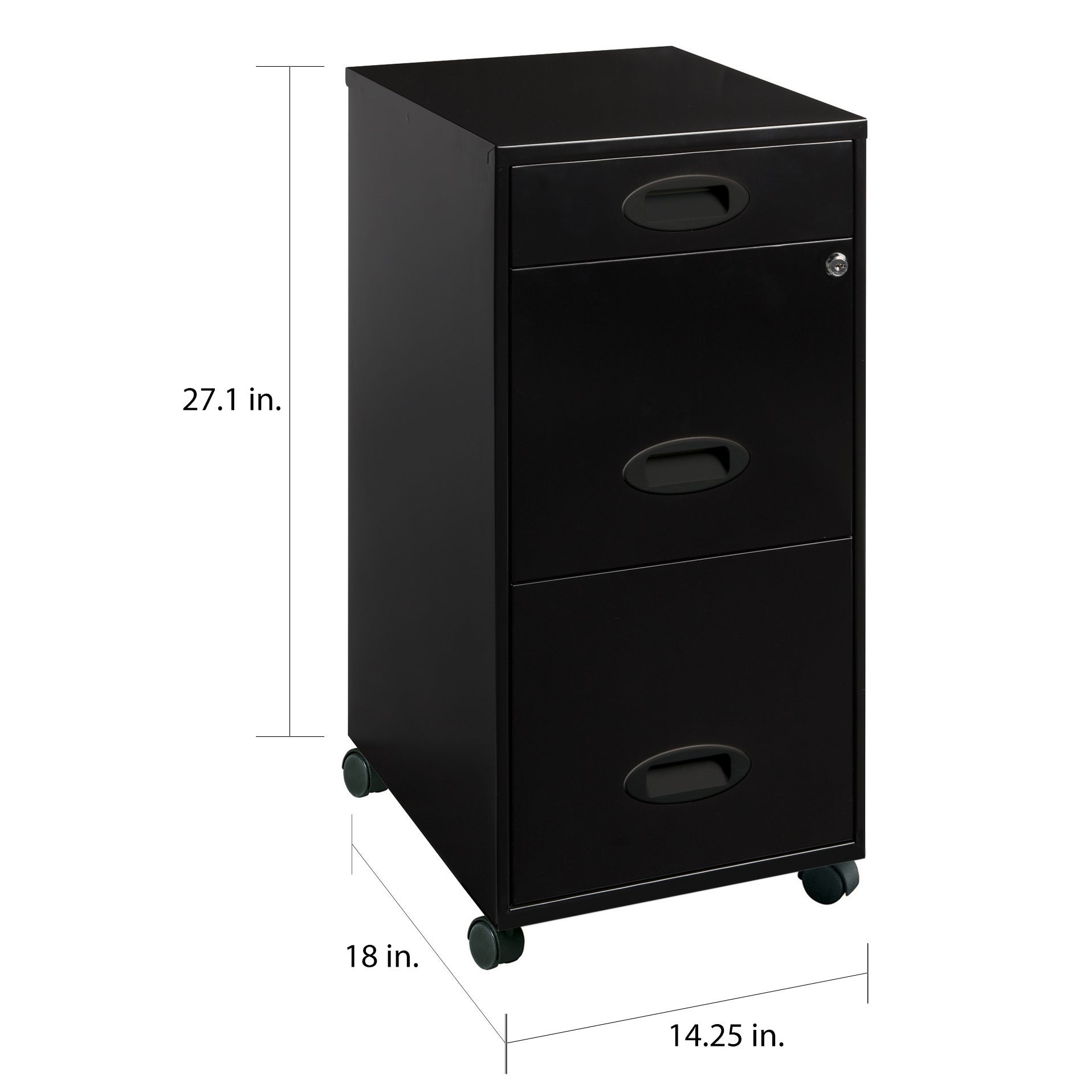 Space Solutions Black 34-drawer Mobile File Cabinet
