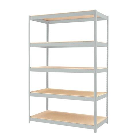 "Iron Horse 1500 Series 5-Shelf Shelving, 72""Hx48""Wx24""D, Light Gray"