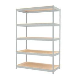 """Iron Horse 1500 Series 5-Shelf Shelving, 72""""Hx48""""Wx24""""D, Light Gray - N/A"""