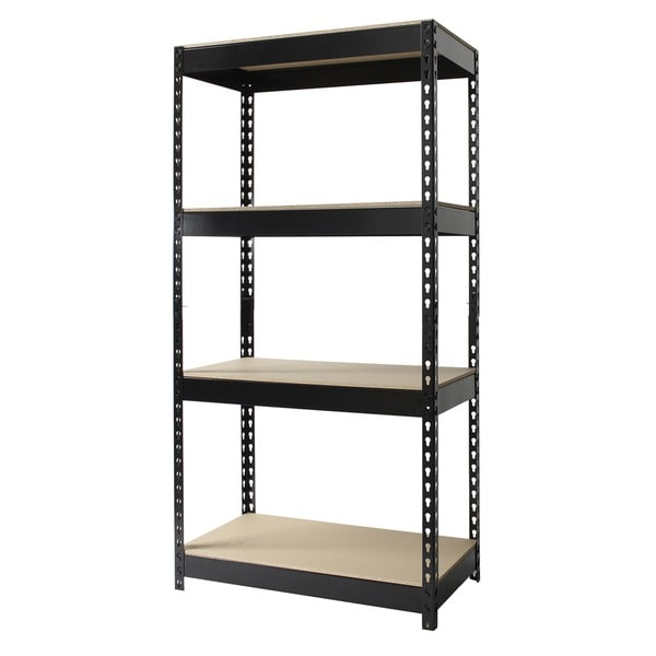 Iron Horse Riveted Steel 4 Shelf Shelving Unit Free
