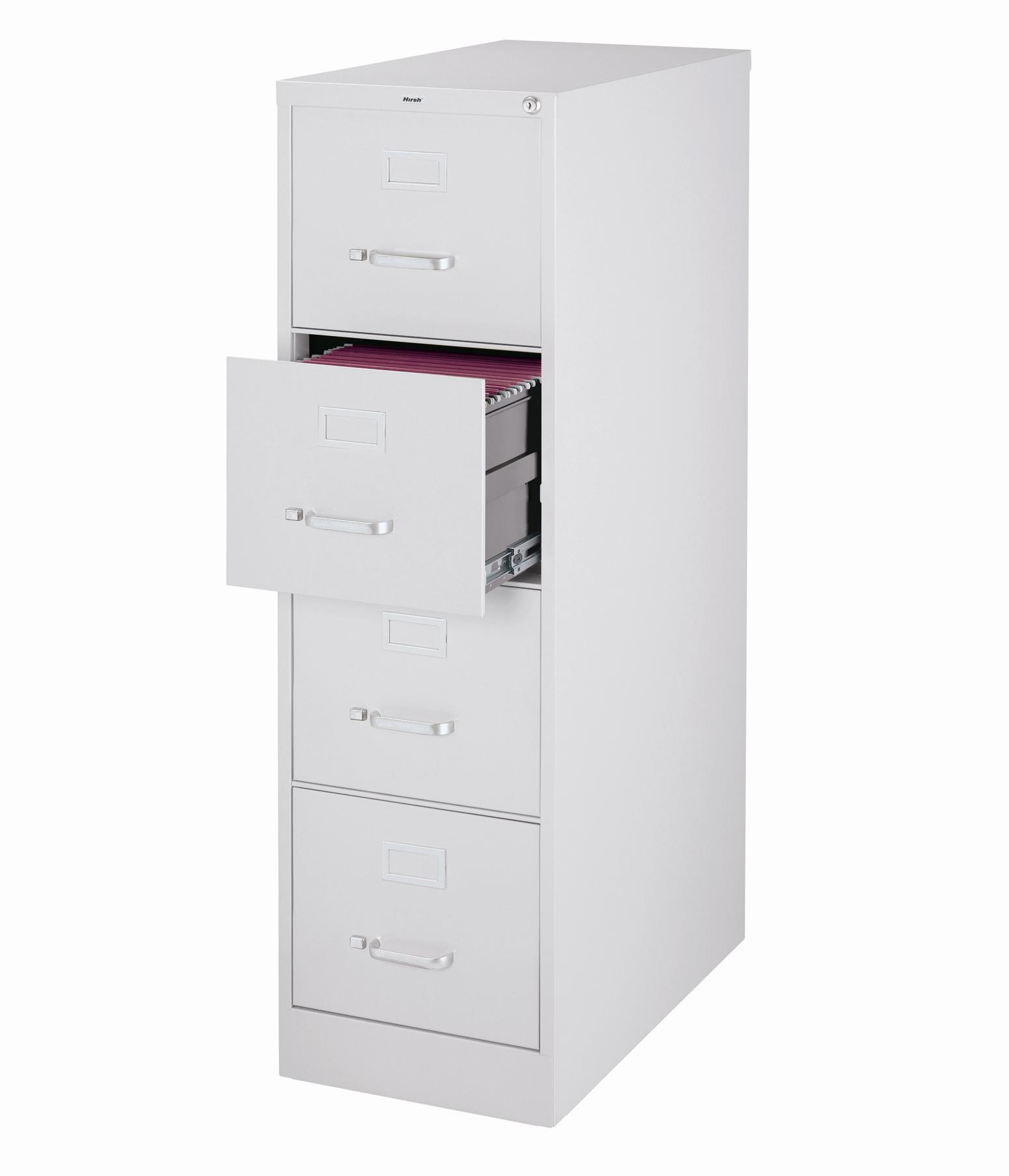 Hirsh 25 Deep 4 Drawer Letter Size Commercial Vertical File Cabinet