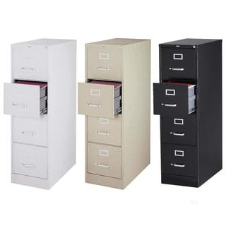 "Hirsh 25"" Deep 4-drawer Letter-size Commercial Vertical File Cabinet"